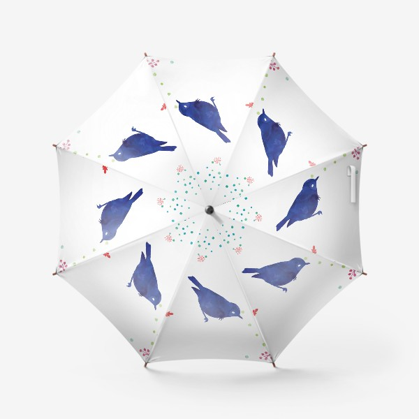 Зонт «Коллекция Pillow talk: Birds blue»