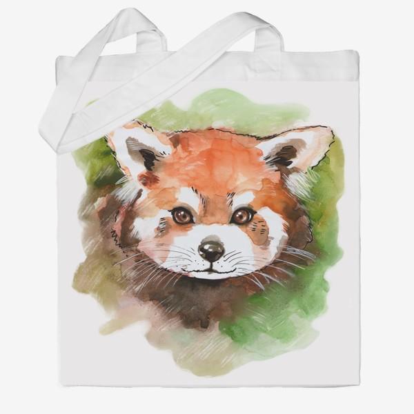 Сумка хб «Красная панда»