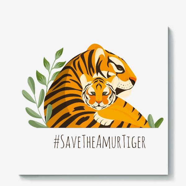 Холст «Тигры»