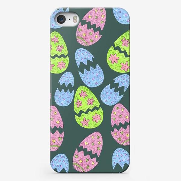 Чехол iPhone «Узор с пасхальными яйцами»