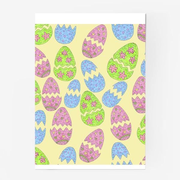Постер «Пасхальные яйца узор»