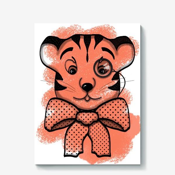 Холст «Тигр джентльмен »
