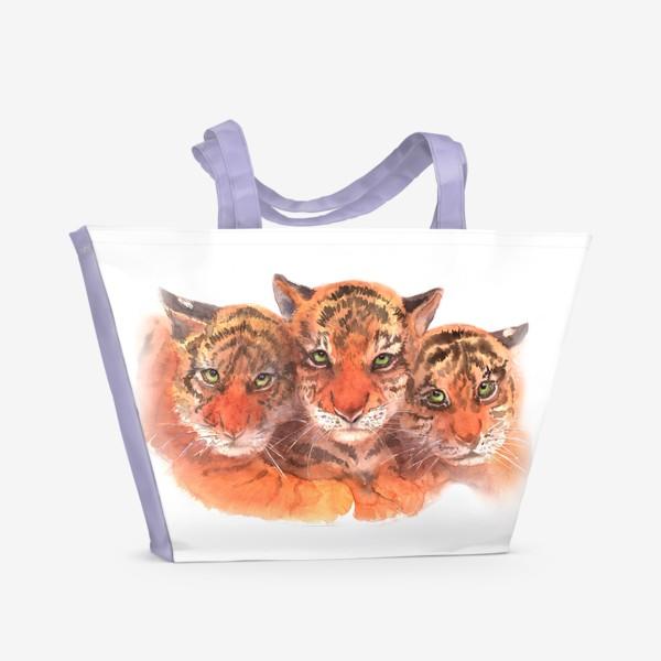 Пляжная сумка «Тигрята»