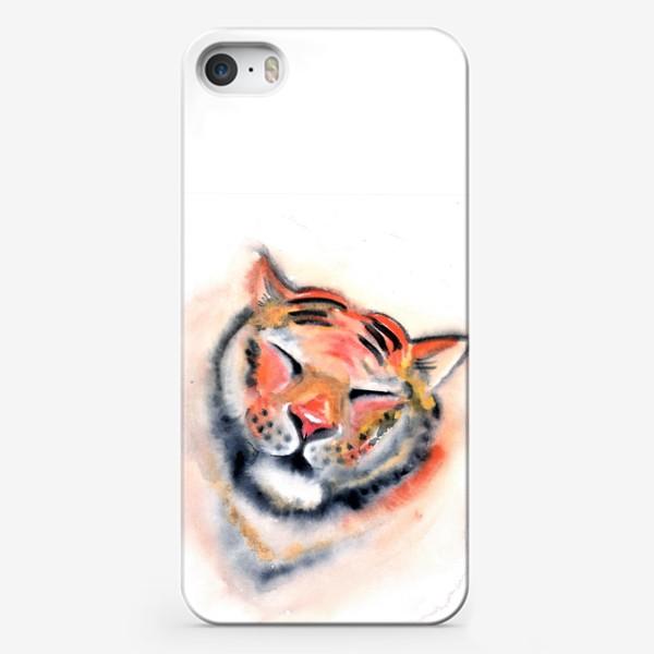 Чехол iPhone «Тигр. Акварель. Удовольствие. Радость. Год тигра 2022.»
