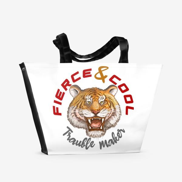 Пляжная сумка « Тигр Tiger»
