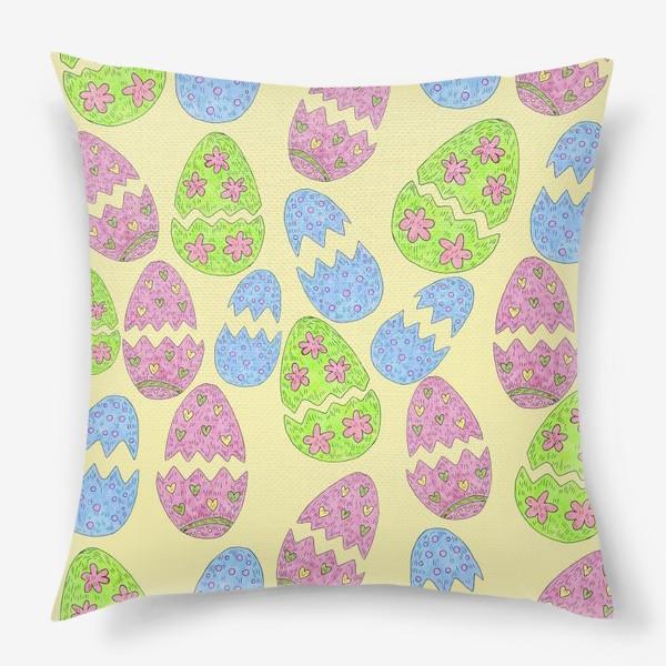 Подушка «Пасхальные яйца узор»
