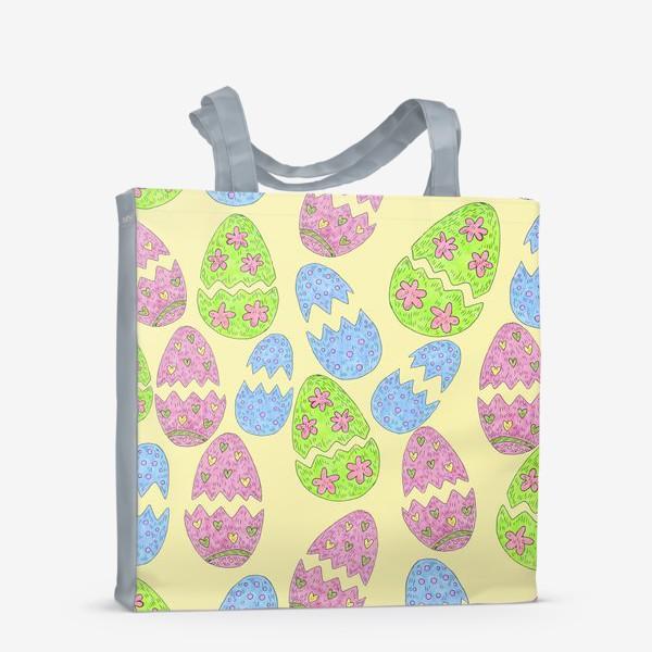 Сумка-шоппер «Пасхальные яйца узор»