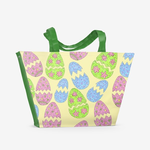 Пляжная сумка «Пасхальные яйца узор»