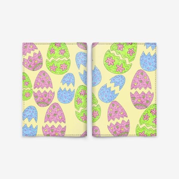 Обложка для паспорта «Пасхальные яйца узор»