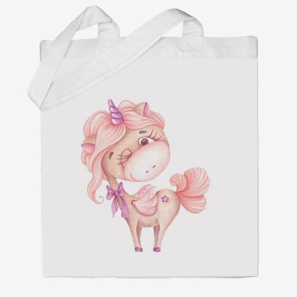 Сумка хб «Розовая Единорожка»