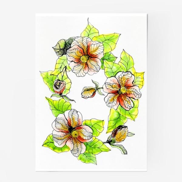 Постер «Цветочный хоровод»