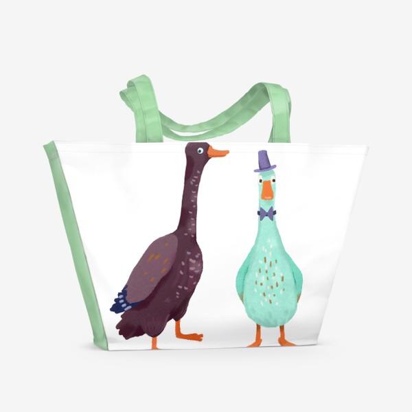 Пляжная сумка «Два гуся»