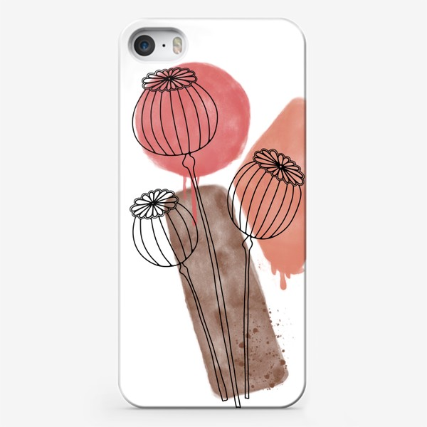 Чехол iPhone «Акварельные маки»