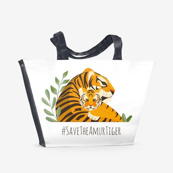 Пляжная сумка «Тигры»