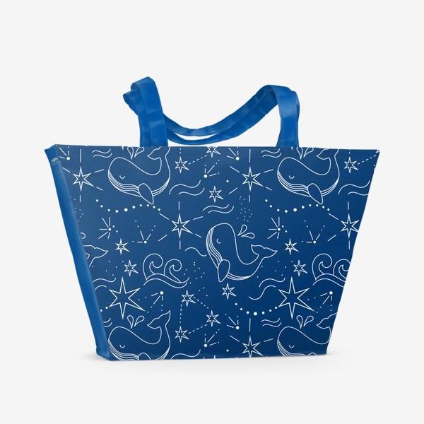 Пляжная сумка «Космические киты»