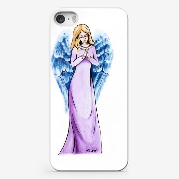 Чехол iPhone «Ангел голубой»