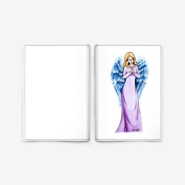 Обложка для паспорта «Ангел голубой»