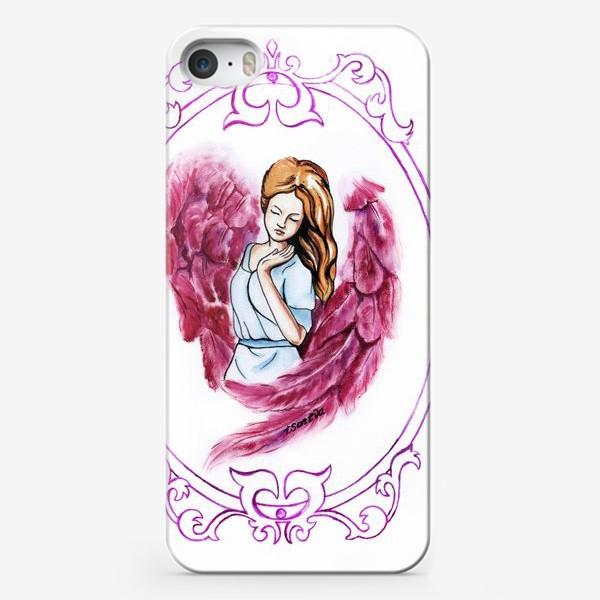 Чехол iPhone «Ангел розовый»