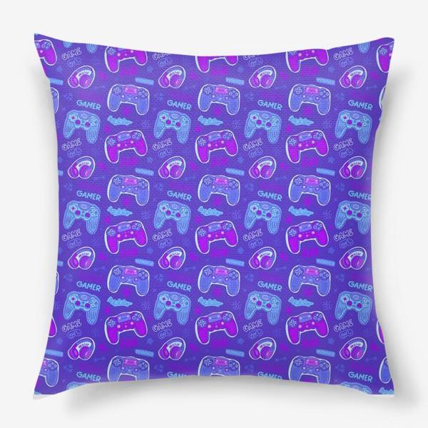 Подушка «Милый паттерн с джойстиками»