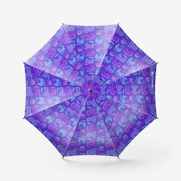 Зонт «Милый паттерн с джойстиками»