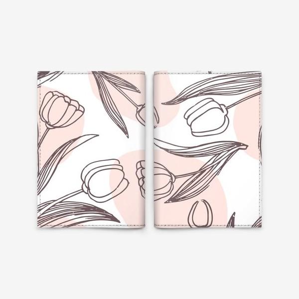 Обложка для паспорта «Весенние тюльпаны»
