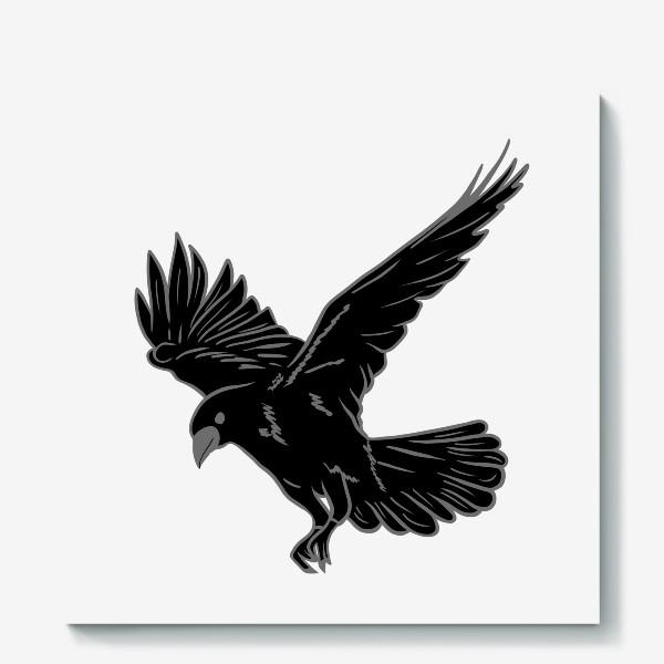 Холст «Черная ворона»