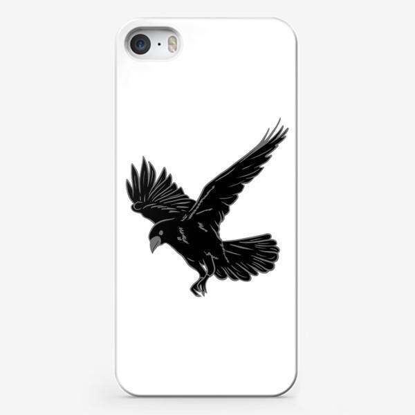 Чехол iPhone «Черная ворона»