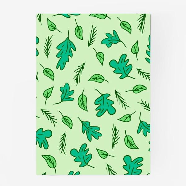 Постер «Листья и трава»