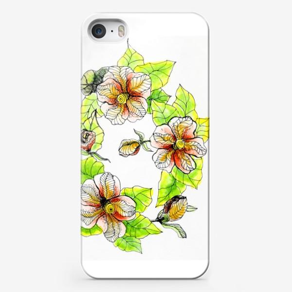 Чехол iPhone «Цветочный хоровод»
