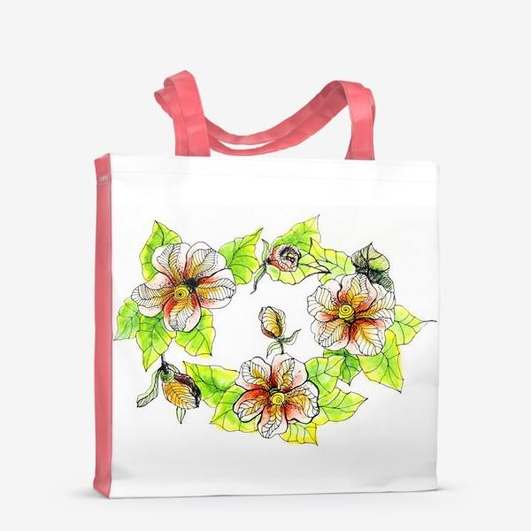 Сумка-шоппер «Цветочный хоровод»