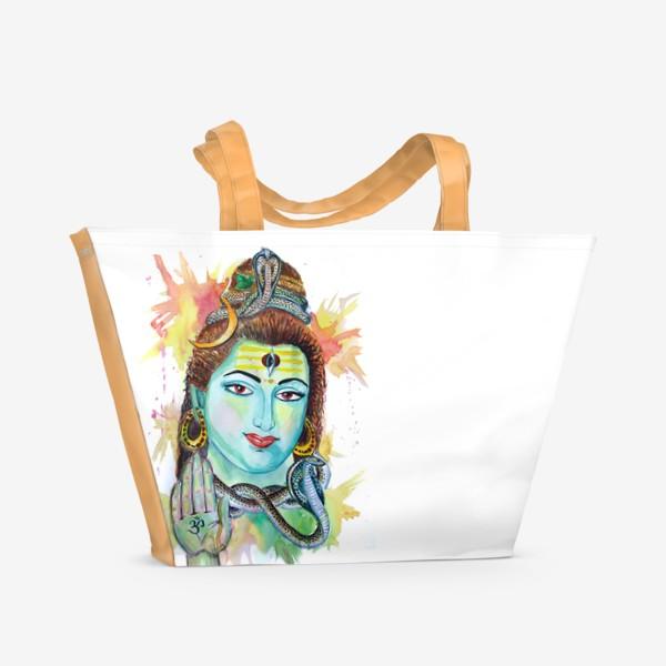 Пляжная сумка «Индийские мотивы. Шива»