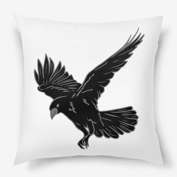 Подушка «Черная ворона»