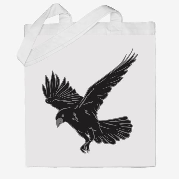 Сумка хб «Черная ворона»