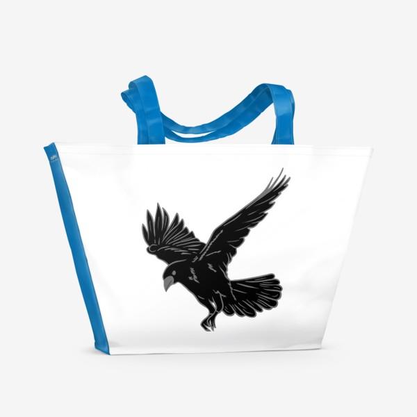 Пляжная сумка «Черная ворона»