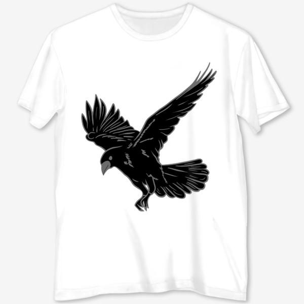 Футболка с полной запечаткой «Черная ворона»
