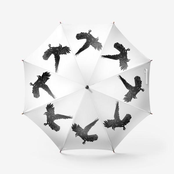Зонт «Черная ворона»
