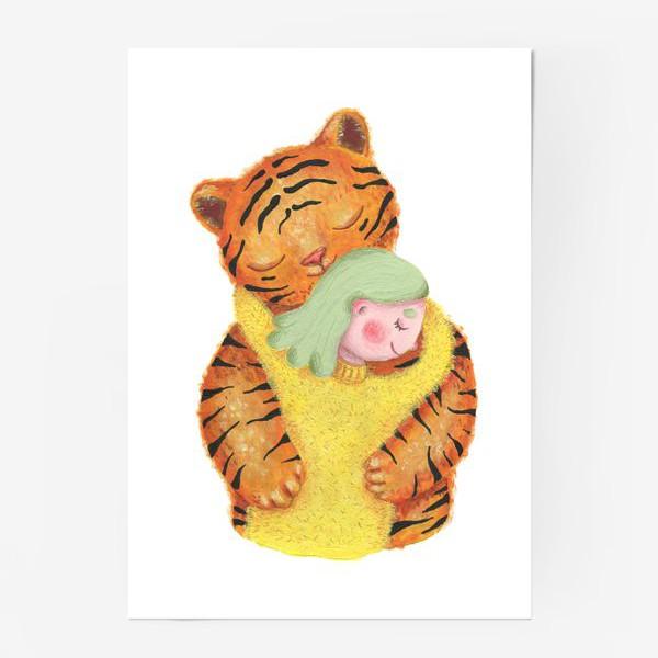 Постер «Год тигра. Новый год 2022. Подарок на новый год девушке, ребенку, любимому человеку, маме»