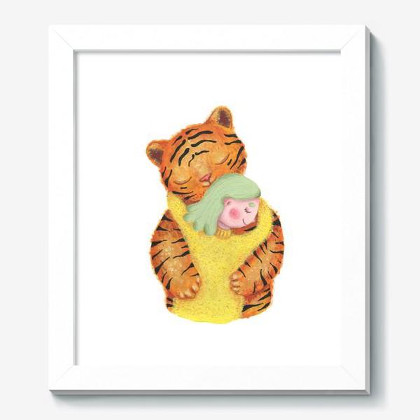 Картина «Год тигра. Новый год 2022. Подарок на новый год девушке, ребенку, любимому человеку, маме»