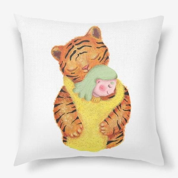 Подушка «Год тигра. Новый год 2022. Подарок на новый год девушке, ребенку, любимому человеку, маме»