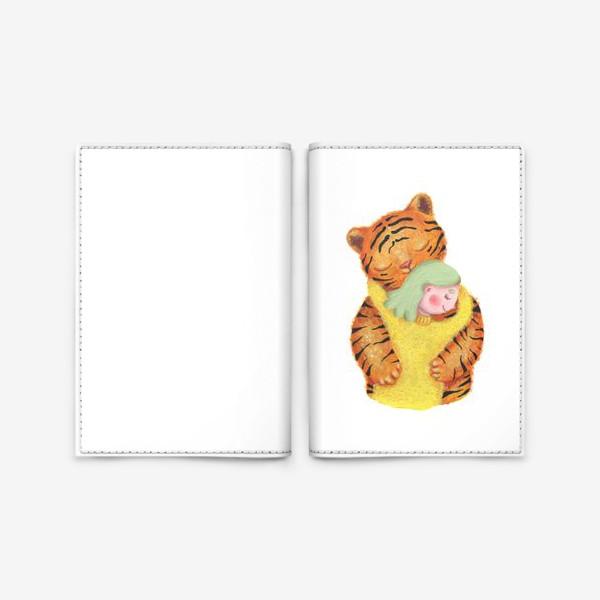 Обложка для паспорта «Год тигра. Новый год 2022. Подарок на новый год девушке, ребенку, любимому человеку, маме»