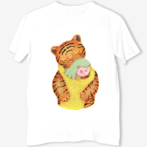Футболка «Амурский тигр. Подарок эко активисту, защитнику животных, любителю природы, подарок девушке, подруге, ребенку»