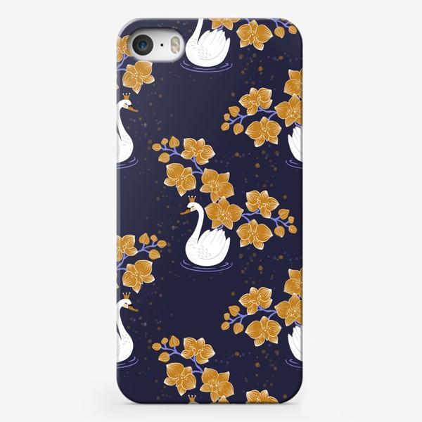 Чехол iPhone «Лебедь с орхидеей »