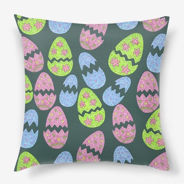Подушка «Узор с пасхальными яйцами»