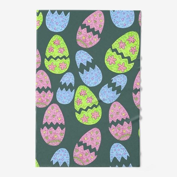 Полотенце «Узор с пасхальными яйцами»