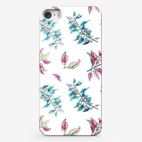 Чехол iPhone «Акварельные осенние листья 11»