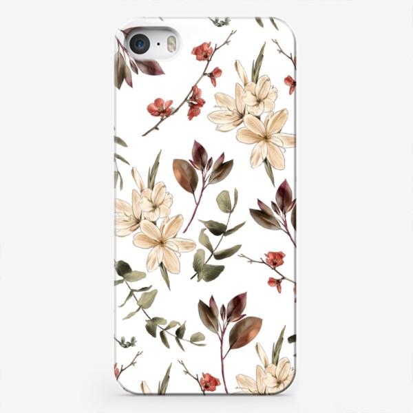 Чехол iPhone «Цветочный бесшовный бохо паттерн»