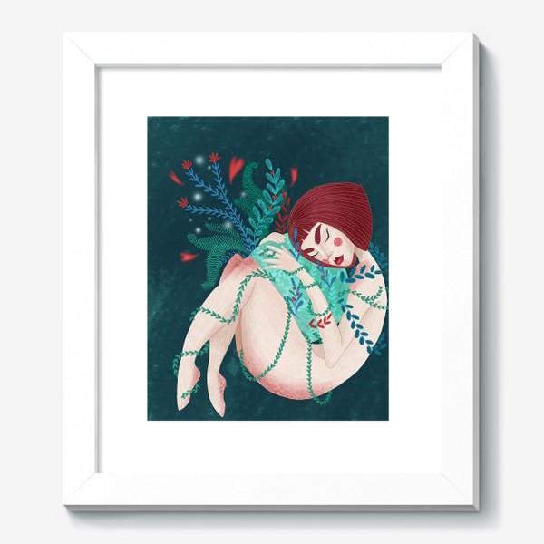 Картина «Green Girl (цветной фон)»