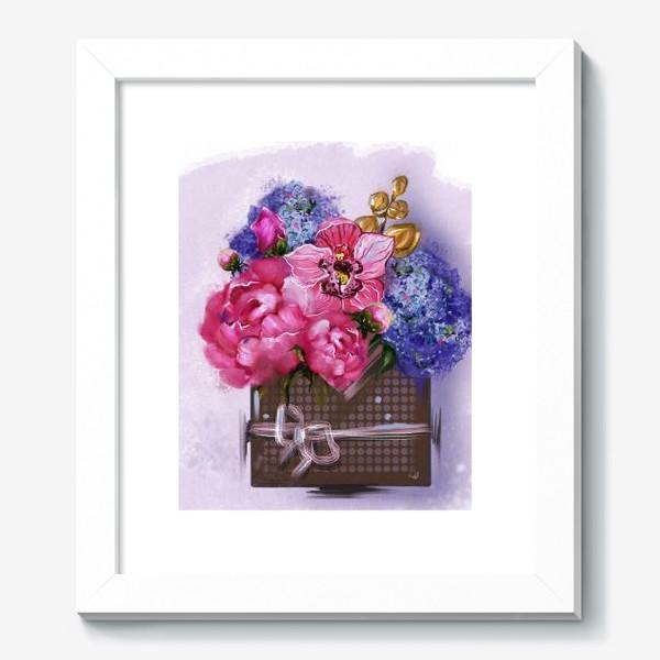 Картина «Весеннее пробуждение. Конверт с букетом. Стикеры. Открытки.»