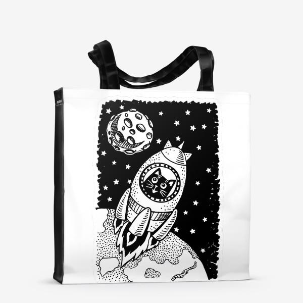 Сумка-шоппер «Котик-космонавт»