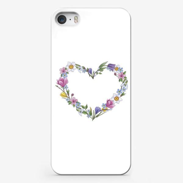 Чехол iPhone «Весенние цветы. Сердце»